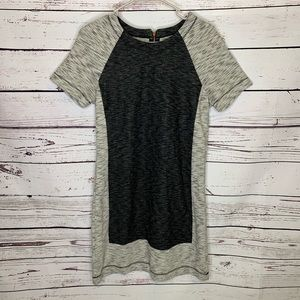 Lou & Grey Gray color block shift dress